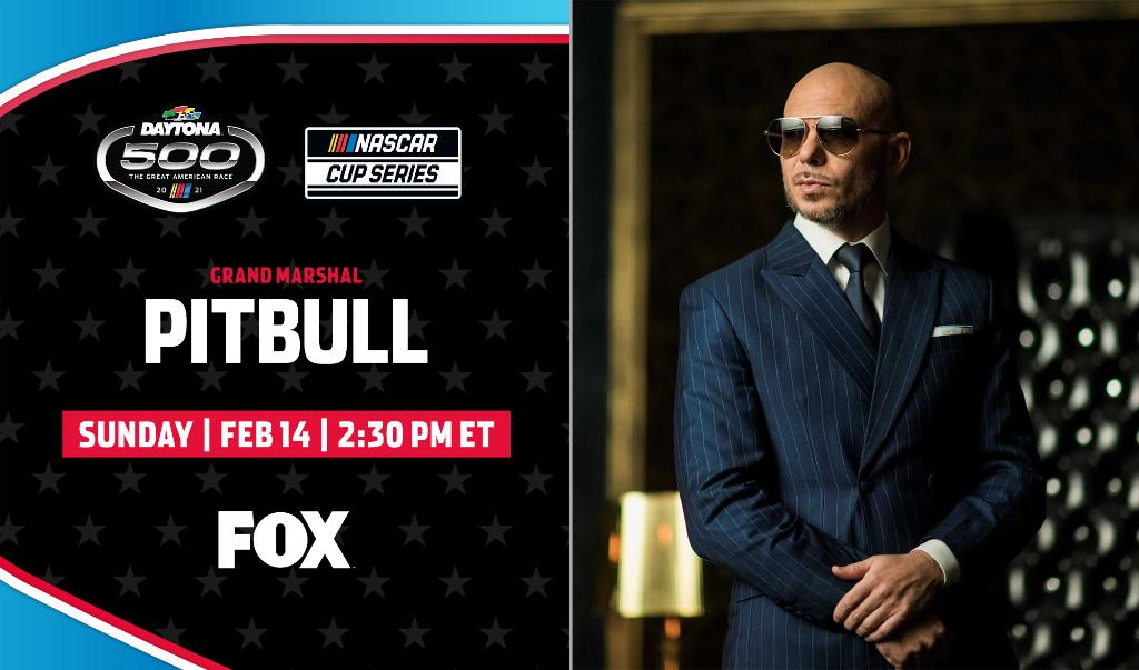 Mr. Worldwide is taking over the World Center of Racing!  @pitbull will be the Grand Marshal of the 63rd #DAYTONA500!