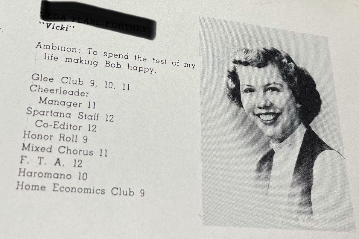 Looking at my grandma's yearbook from 1949 and Pat was...built differently