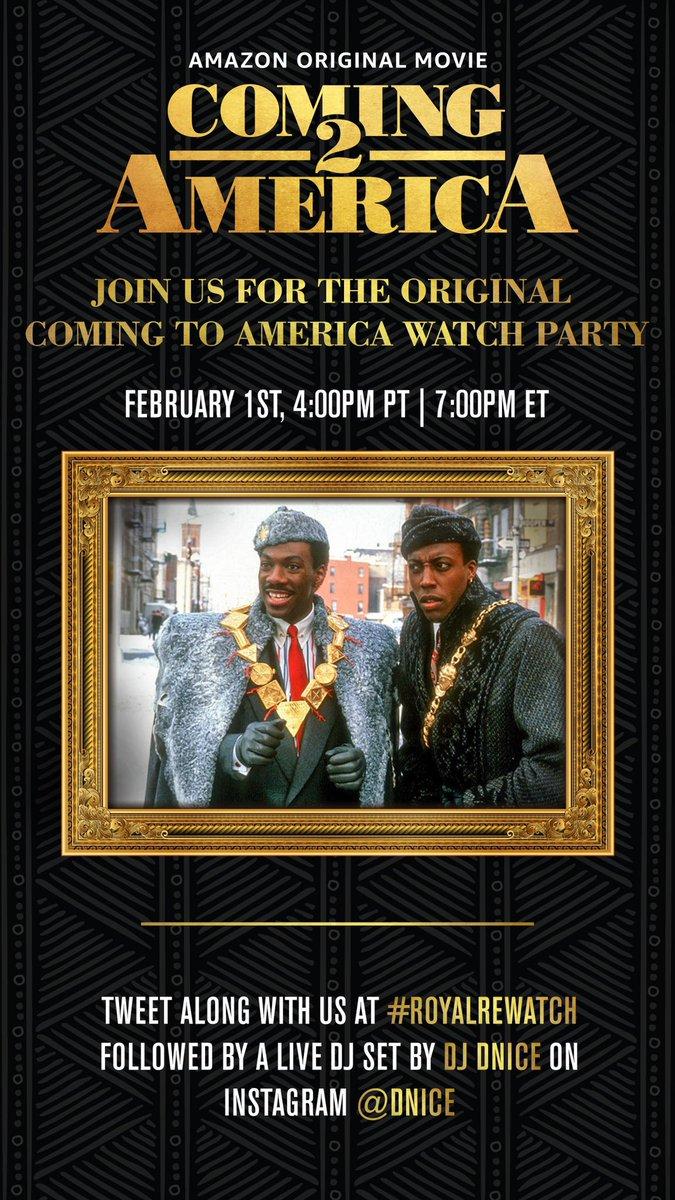 #ComingToAmerica Watch Party Tonight!! #RoyalRewatch 7PM EST