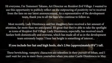 Message from the art director of the game Tomonori Takano.