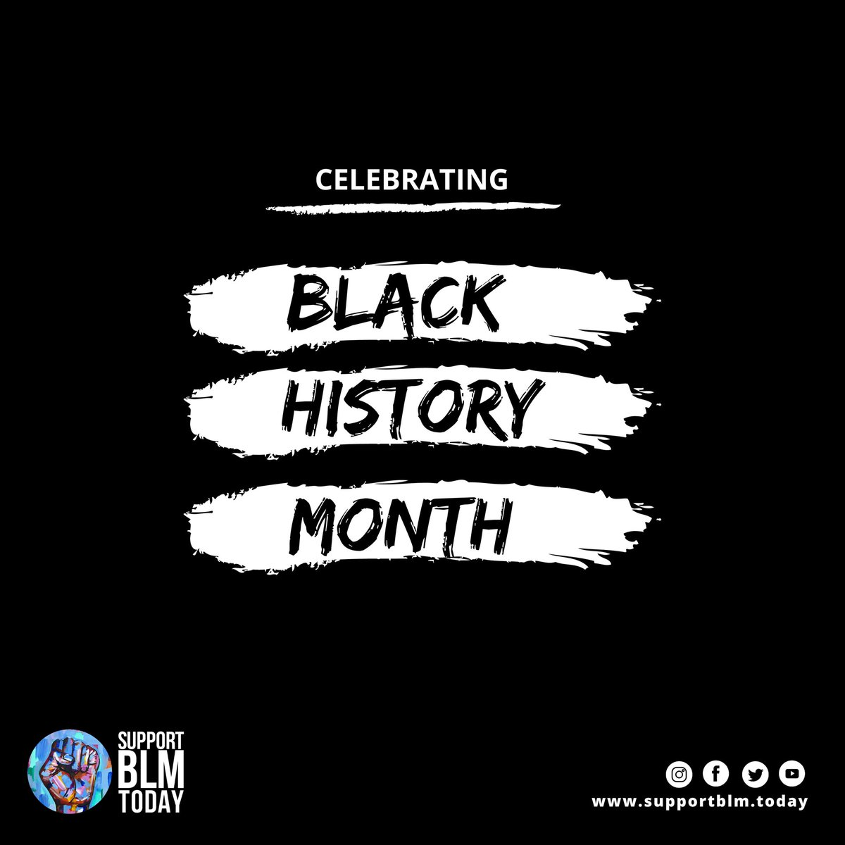 Black History Month is not a month. It's a LIFETIME. Say it loud. I'm Black And I'm Proud!    #blacklivesmatter #blmquotes #blm #blm2021 #equality #racism #solidarity #blacklives #mlk #blmmovement #nojusticenopeace #blacklivesmatterplaza #blmprotest