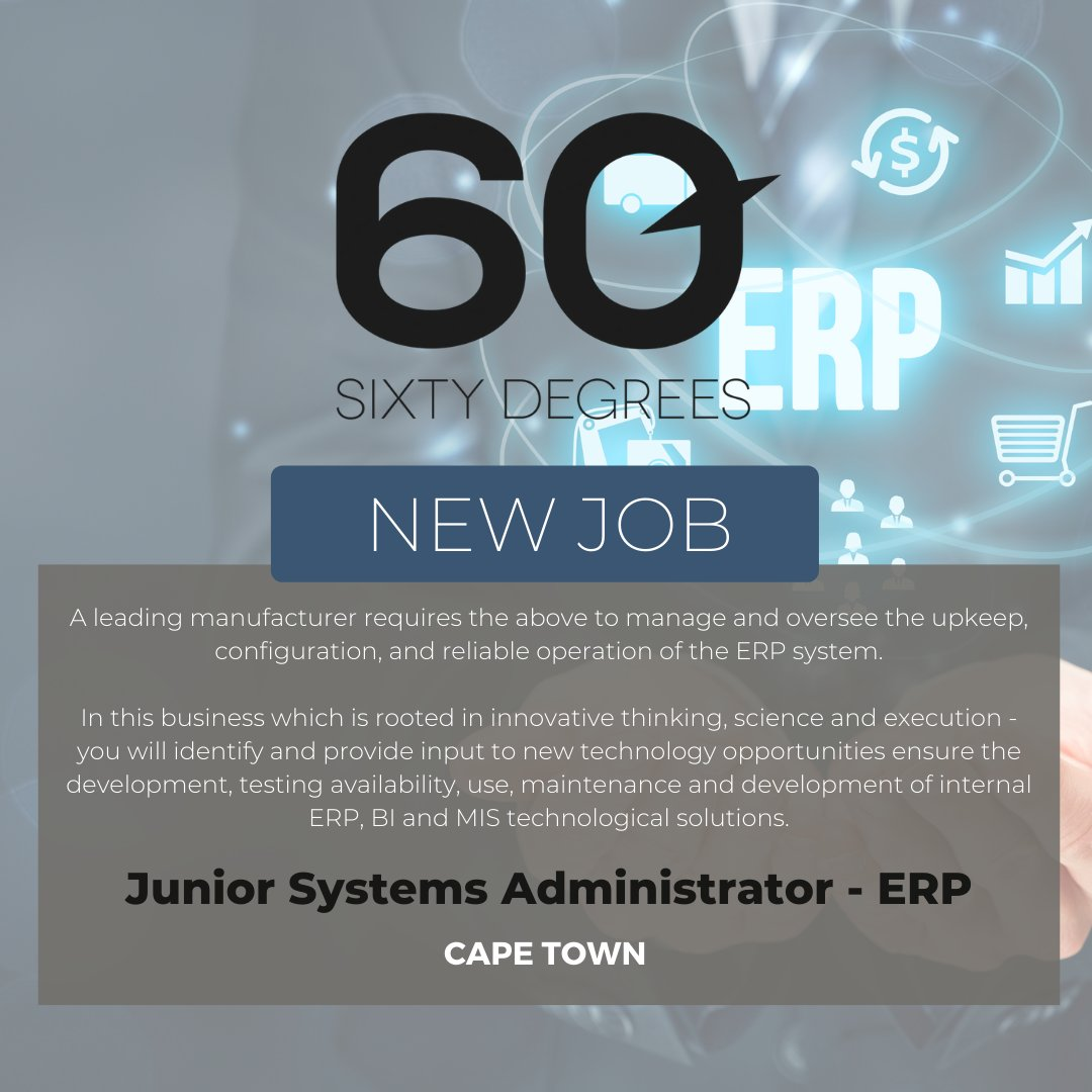 test Twitter Media - New #JobAlert - Junior Systems Administrator - ERP in Cape Town.  For more information & to apply, please click on the link below;  https://t.co/QSwS1gnkX5  #nowhiring #60degrees #systemsadministrator #ERP https://t.co/4c7VzhyATg