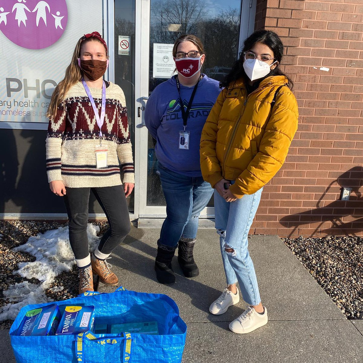 MLK Day of Service!! We donated over 500 menstrual products to @PHCIowa in January! We also spent time volunteering at two other places! Donate today at   #mlkdayofservice #communityservice #donationsneeded #charity #nonprofit #givingback #endperiodpoverty