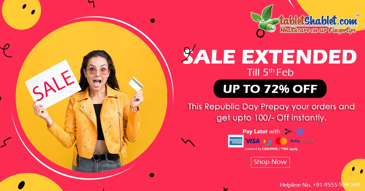 We have some GREAT NEWS for you all….🤗  💁♀️Our Republic 🇮🇳 Day Sale is Extended till 05th Feb, 2021… So, Shop to your Health's Desire!!!  Shop now-   #republicdaysale #Sale #republicday #india #happyrepublicday #republic #tabletshablet #indianrepublicday