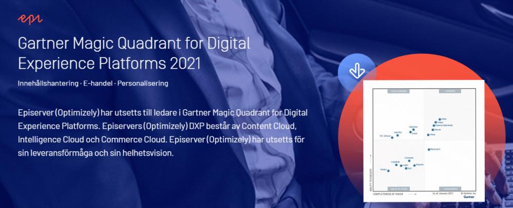 Episerver (Optimizely) ledare i Gartner Maqic Quadrant for Digital Experience Platforms – plattformar för digitala upplevelser https://t.co/1SPt0ENrfo https://t.co/fBNrQLaOWM