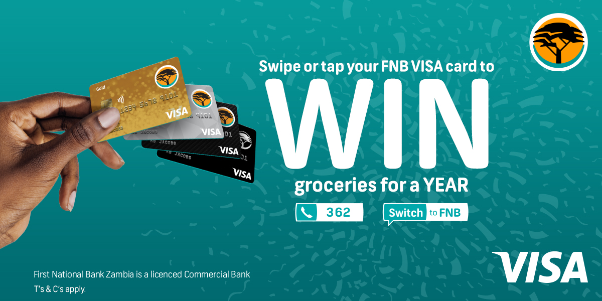 Tap or Swipe your FNB Visa card to stand the chance to WIN groceries for a month or a whole YEAR! That's 12 months of FREE groceries from FNB and Visa. T's & C's apply #Tap #Swipe #Win https://t.co/1CBxiDl2xL