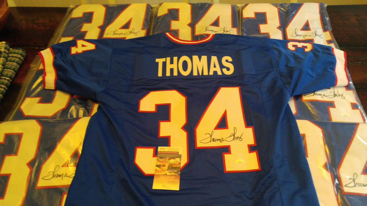 REMINDER!!  GIVEAWAY TIME!  Signed Thurman Thomas authentic jersey!!!  Step 1: Retweet tagging 4 people   Step 2: Subscribe to my YouTube channel at   Winner drawn at halftime of the Super Bowl!