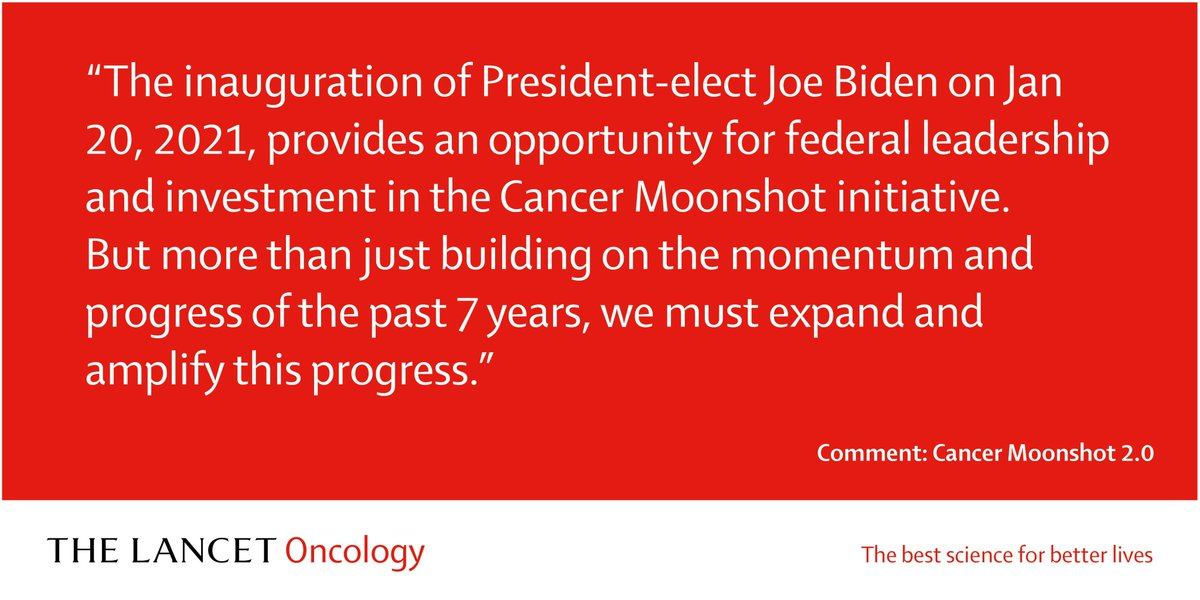 Comment now in the Feb issue: David Agus, Liz Jaffee and Chi Van Dang discuss Cancer Moonshot 2.0  #FutureCancerUSA #Cancer #USA