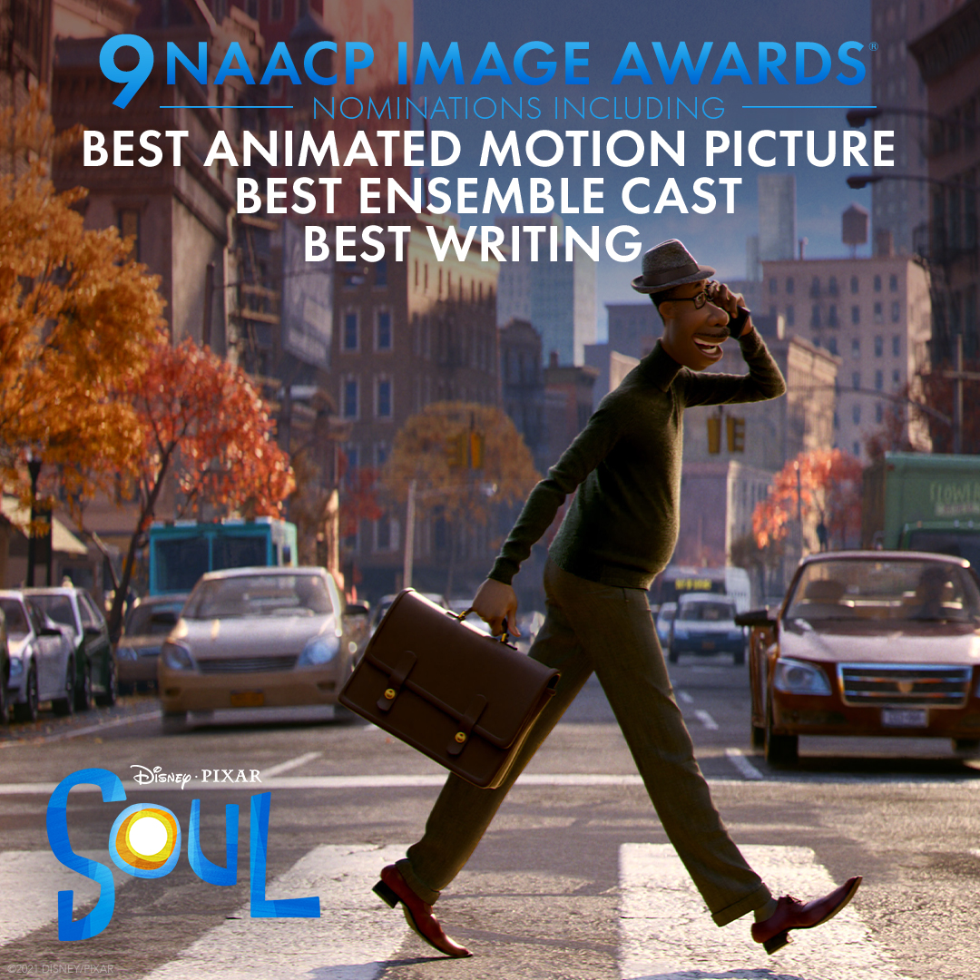Congratulations to Soul for receiving 9 #NAACPImageAwards nominations including Outstanding Animated Motion Picture, Writing in a Motion Picture, Ensemble Cast in a Motion Picture, Soundtrack/Compilation Album, Jazz Album - Instrumental  (1/2)