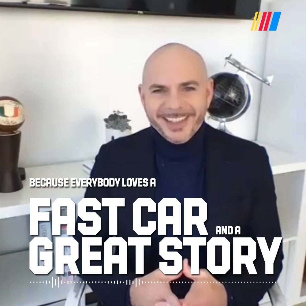 Replying to @NASCAR: We couldn't agree more, @pitbull!