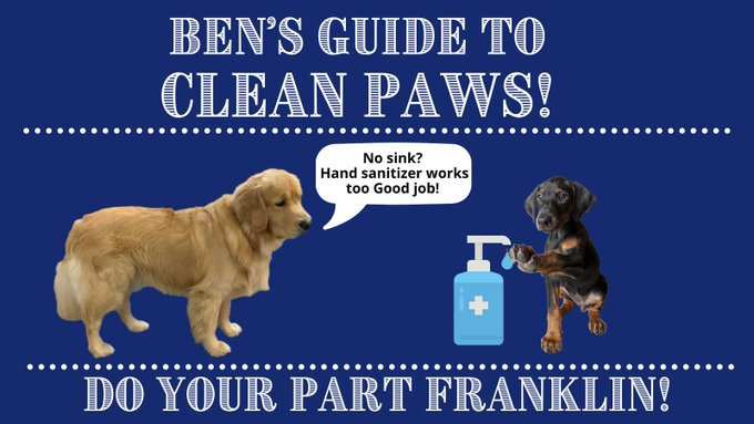 Ben knows it is important to keep your hands clean