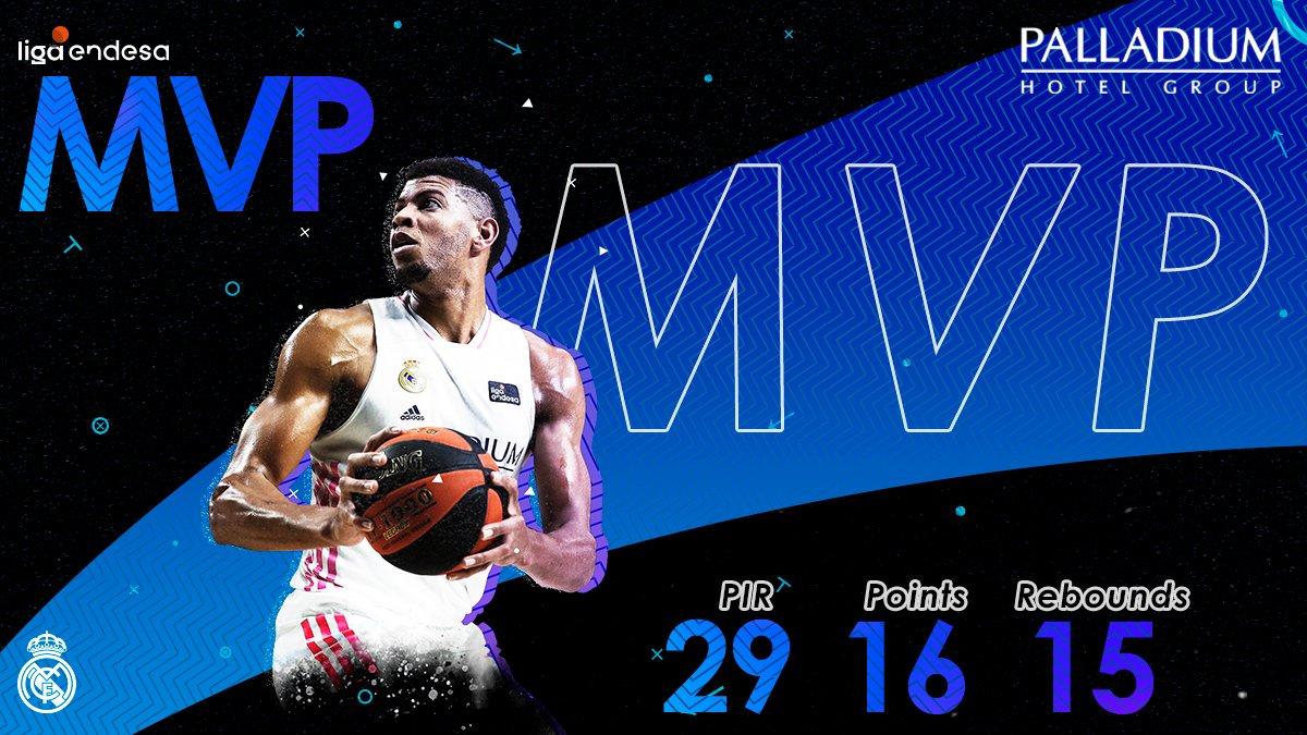💪 El #MVPalladium de la noche es nuestro caboverdiano @waltertavares22 💪 #HalaMadrid | @PalladiumHG