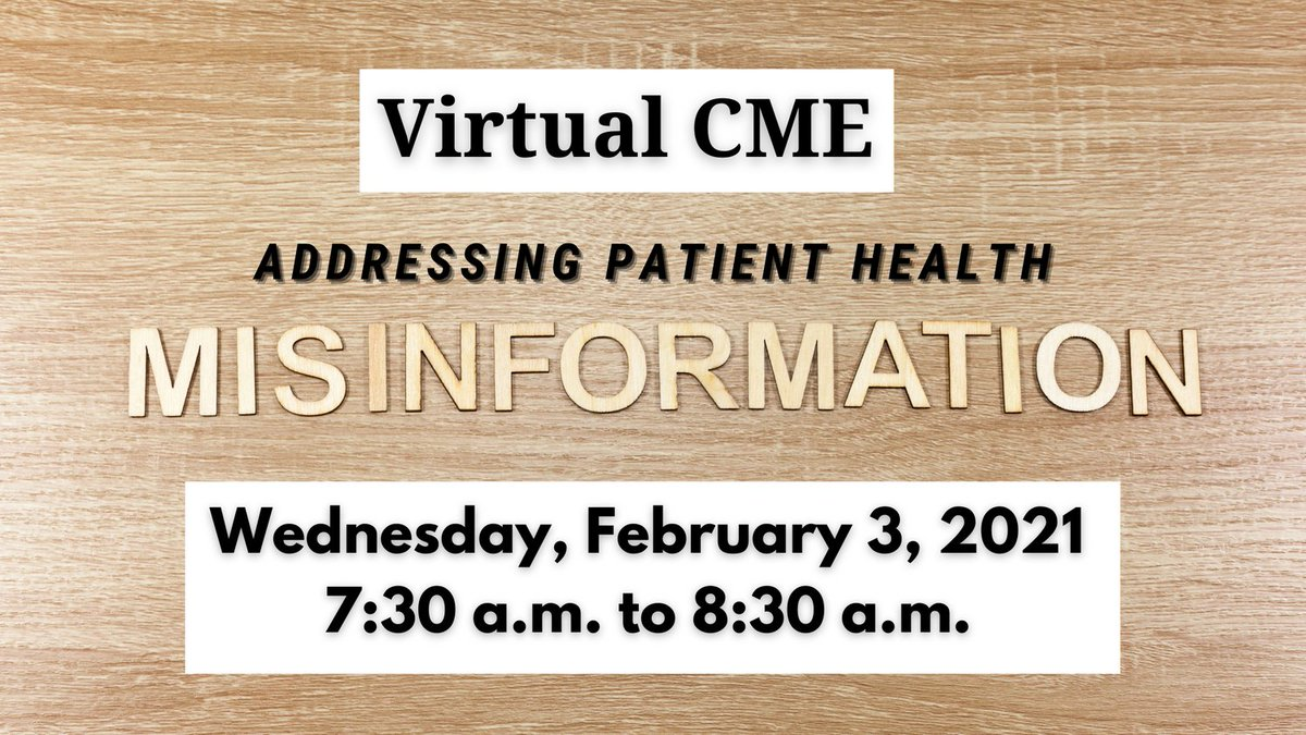 test Twitter Media - We are offering a Live CME over Zoom tomorrow, focusing on addressing patient health misinformation -- a vital topic given vaccine hesitancy and other pressing challenges. It's $20 for CAFP members. More information is here: https://t.co/vPLBynAsLb https://t.co/rnMWbHnCJB