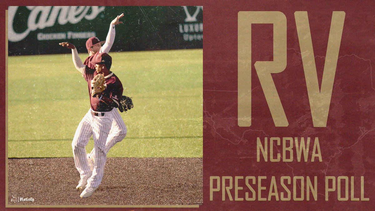 Bobcats receive votes in @NCBWA preseason poll for first time since 2013! 🔗: bit.ly/3czMWOJ #EatEmUp #ComebackStrong