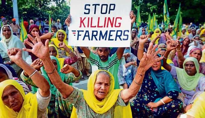 What in the human rights violations is going on?! They cut the internet around New Delhi?! #FarmersProtest