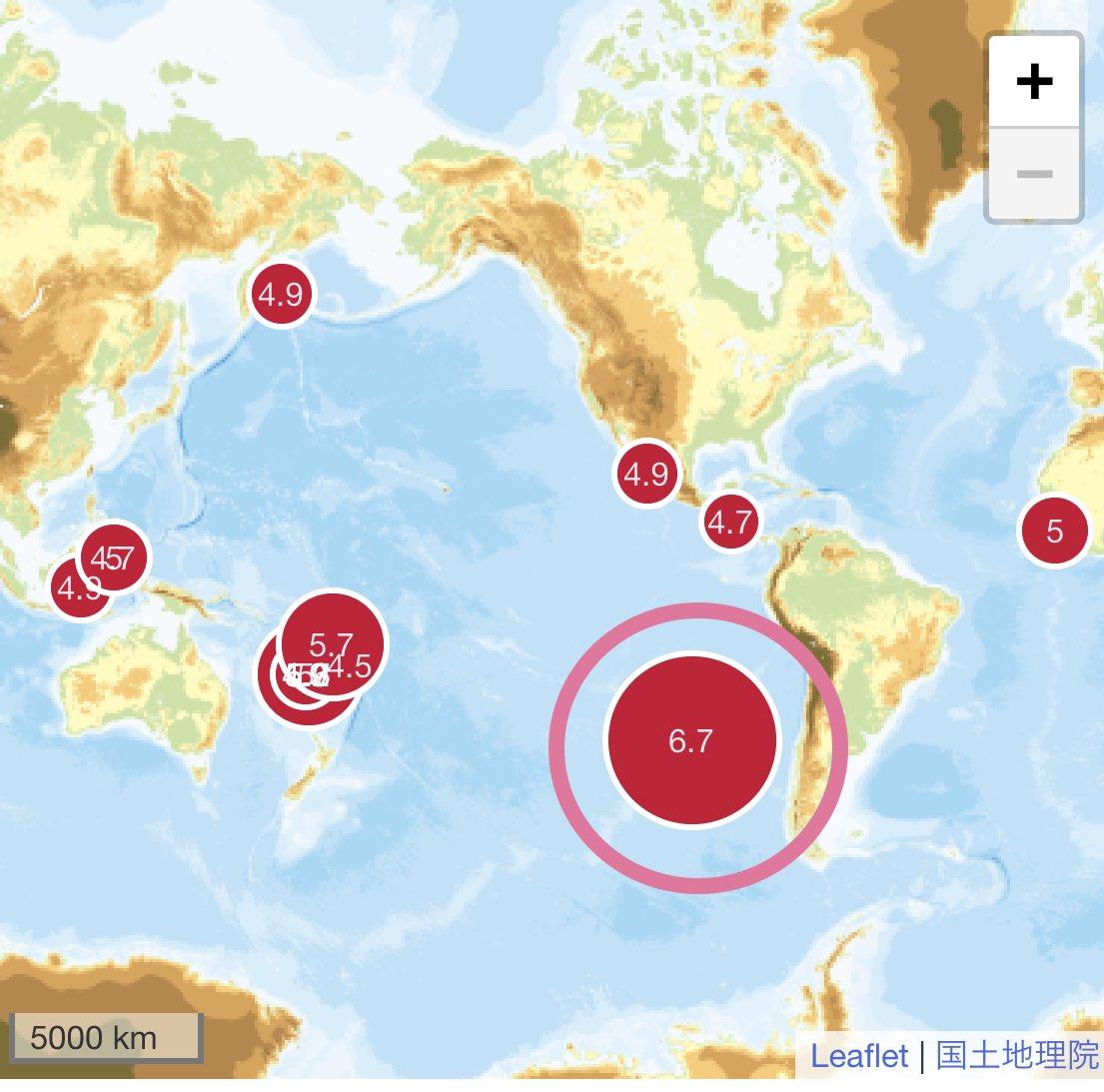 体感 しろくま 地震 twitter