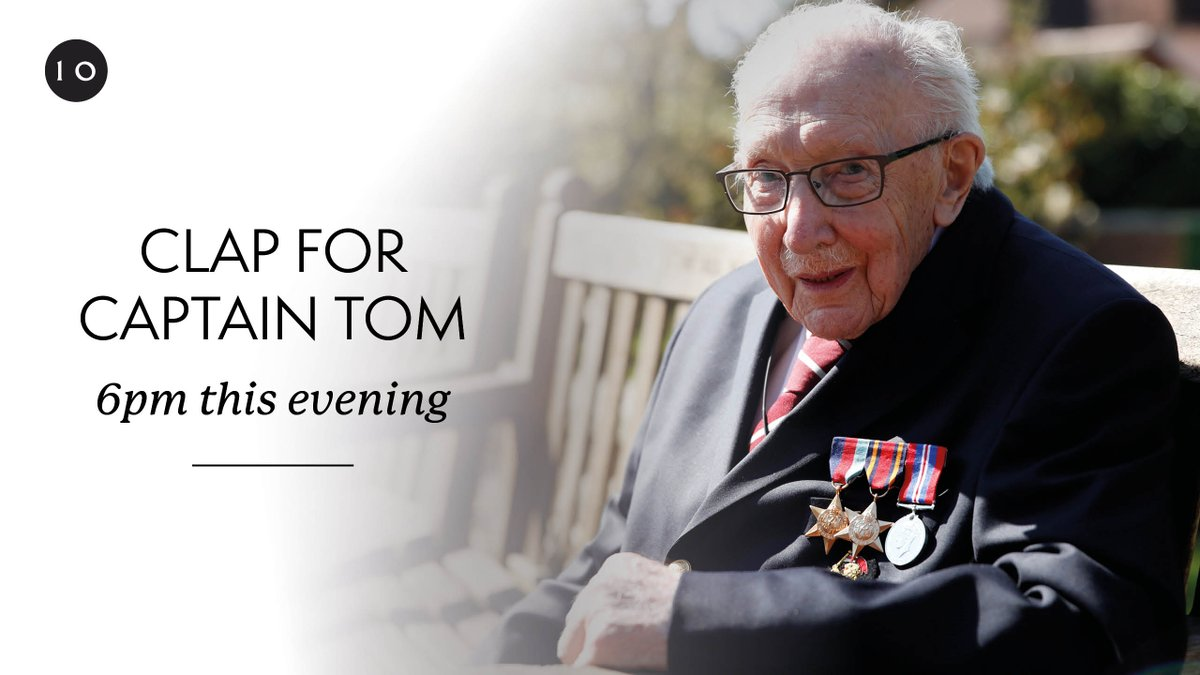 Tonight at 6pm we will clap to honour the life of Sir @CaptainTomMoore and all those health workers who he recognised with his fundraising.  #ClapForCaptainTom https://t.co/cPLpjXmJ6k