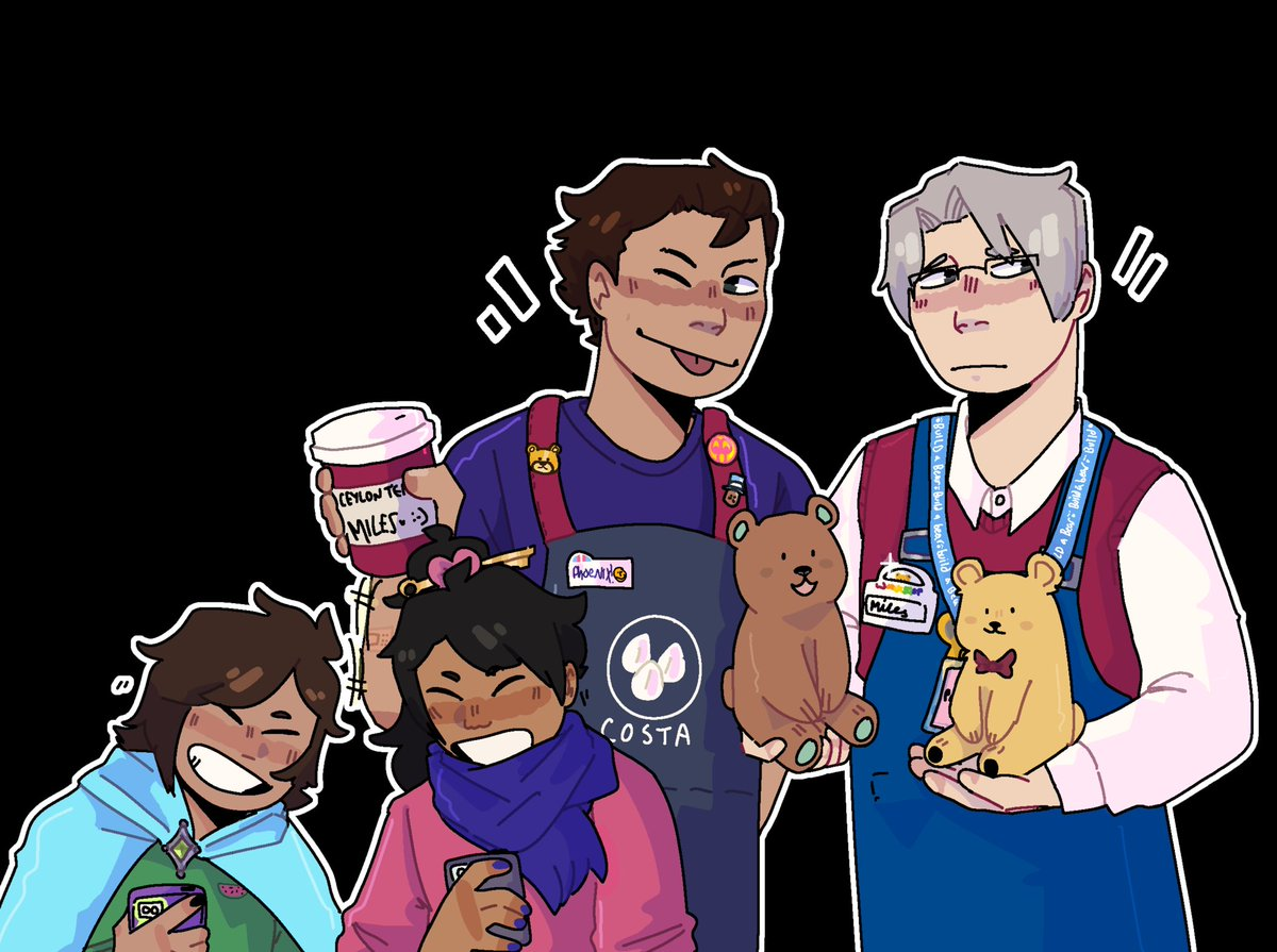 RT @ledskiii: Mill enabled my silly coffee shop/build a bear au ,, take them  [#AceAttorney] https://t.co/FJ4HfUSs4r