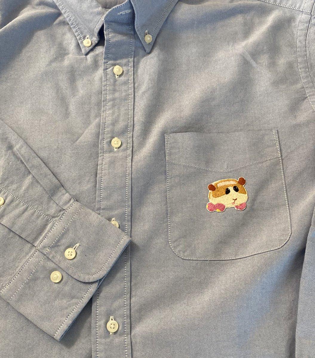 奥さんの手によりシャツがカスタマイズされていた… #モルカー