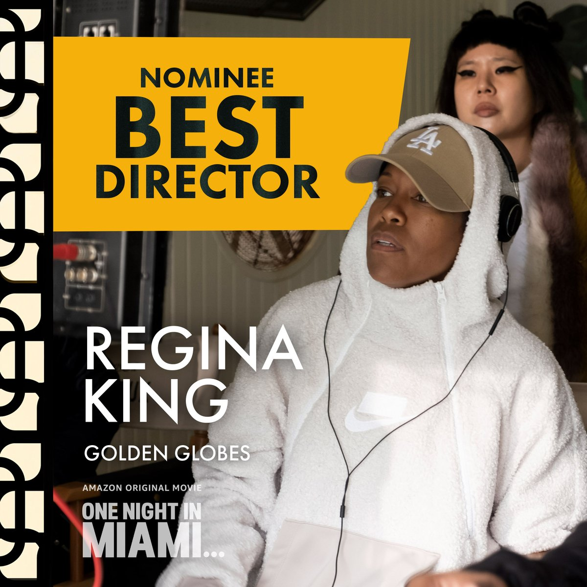 It's #GoldenGlobes time! Congratulations to @ReginaKing for her Best Director, Motion Picture nomination for One Night in Miami!