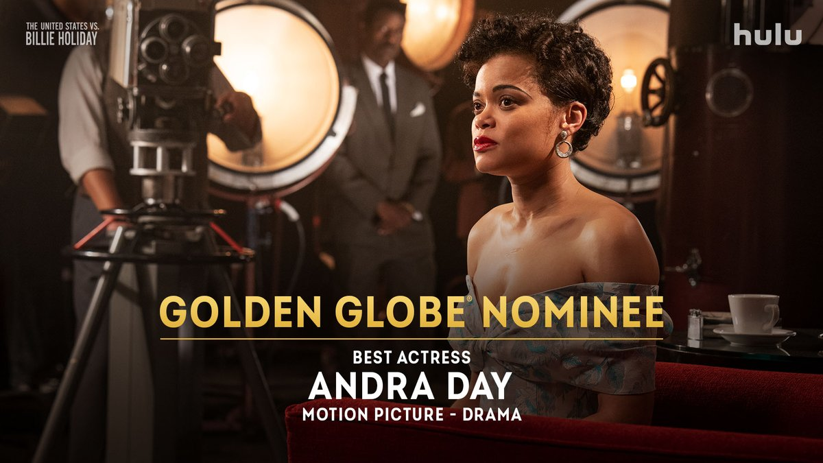 Her talent is felt far and wide. ✨ Congratulations to @AndraDayMusic on her #GoldenGlobes nomination for Best Actress in a Motion Picture - Drama. #USvsBillieHoliday