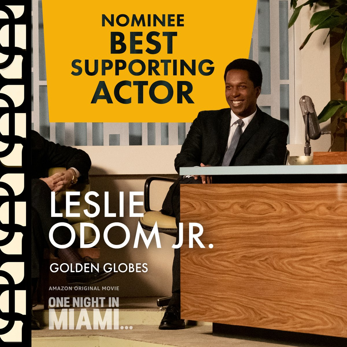 You send me! @leslieodomjr just grabbed a #GoldenGlobes nomination for Best Supporting Actor,  Motion Picture for One Night in Miami ⭐️