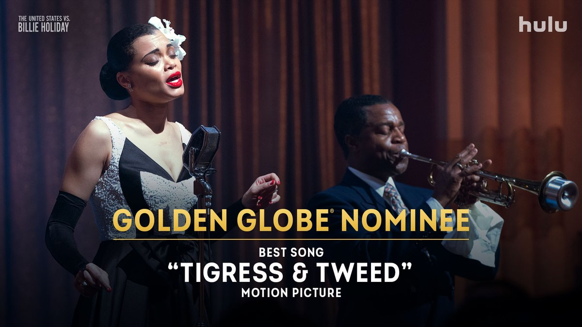 "A song inspired by Billie Holiday's fight for freedom. Congratulations to @AndraDayMusic and @RaphaelSaadiq on their #GoldenGlobes nomination for Best Song - Motion Picture for ""Tigress & Tweed."" #USvsBillieHoliday"