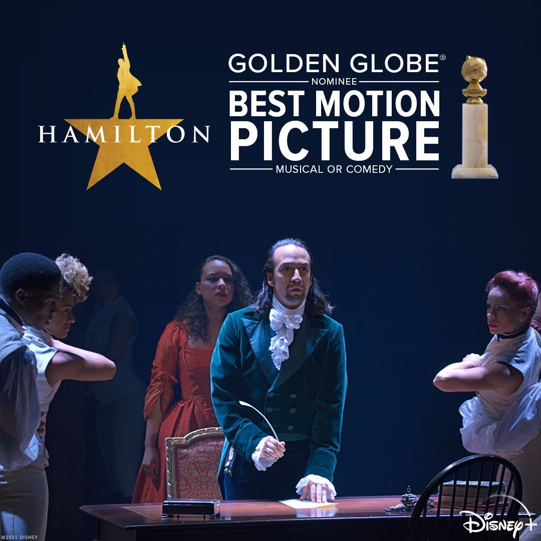 Congratulations to Hamilton for its #GoldenGlobes nomination for Best Motion Picture – Musical or Comedy!