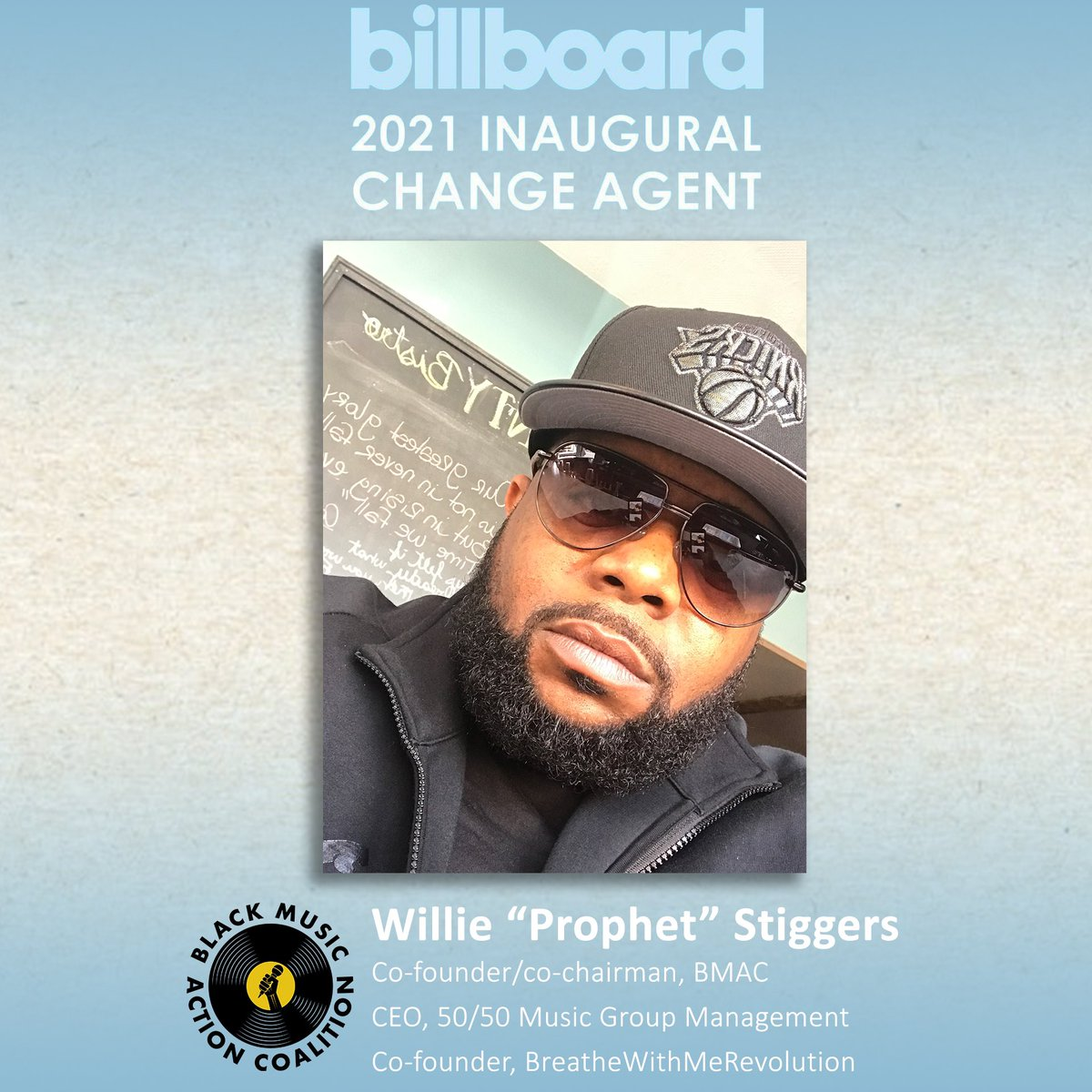 Thanks @billboard for including the Black Music Action Coalition in the 2021 Inaugural Change Agents Issue.  There's a lot of work to be done and we're committed to doing it!