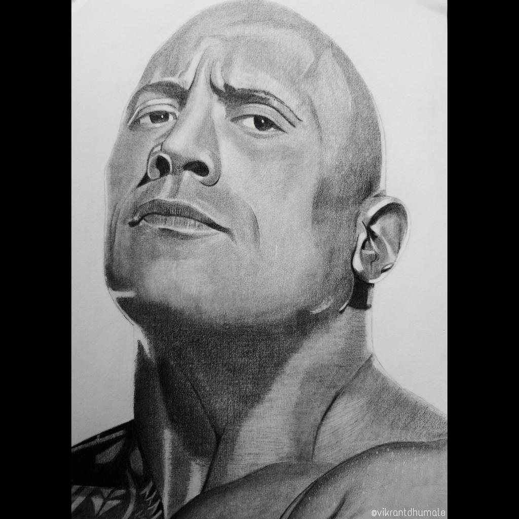 @TheRock Day 13: Until you notice Sir  I have drawn your sketch. Please let me know your views on this...  #TheRock #BlackAdam
