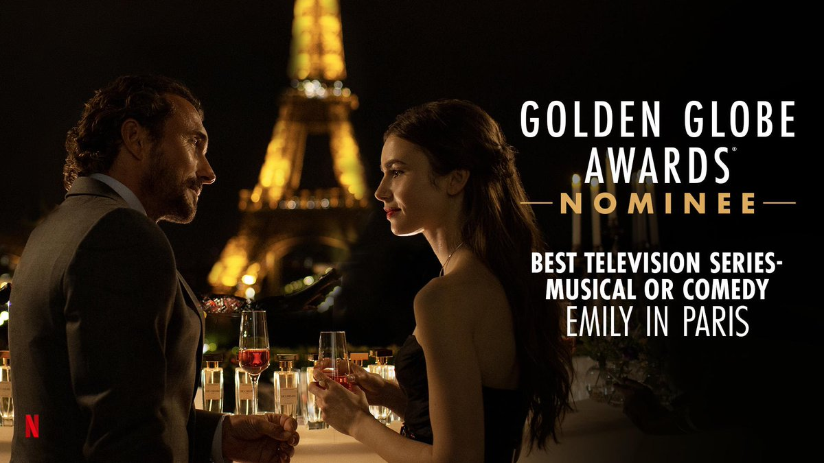 So honored to be nominated for a #GoldenGlobe! I'm beaming for my #EmilyinParis family (my first project as a producer!).... What a wild morning! Ecstatic and grateful doesn't even begin to cut it...