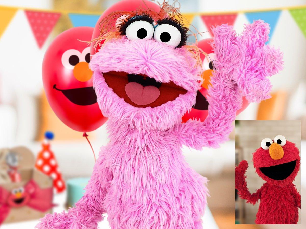 🎈¡Lola está lista para celebrar a uno de sus mejores amigos!🎈Solo que aún no es hora de la sorpresa y @Elmo la está llamando, ¡Rápido! hay que ocultar todo 😨