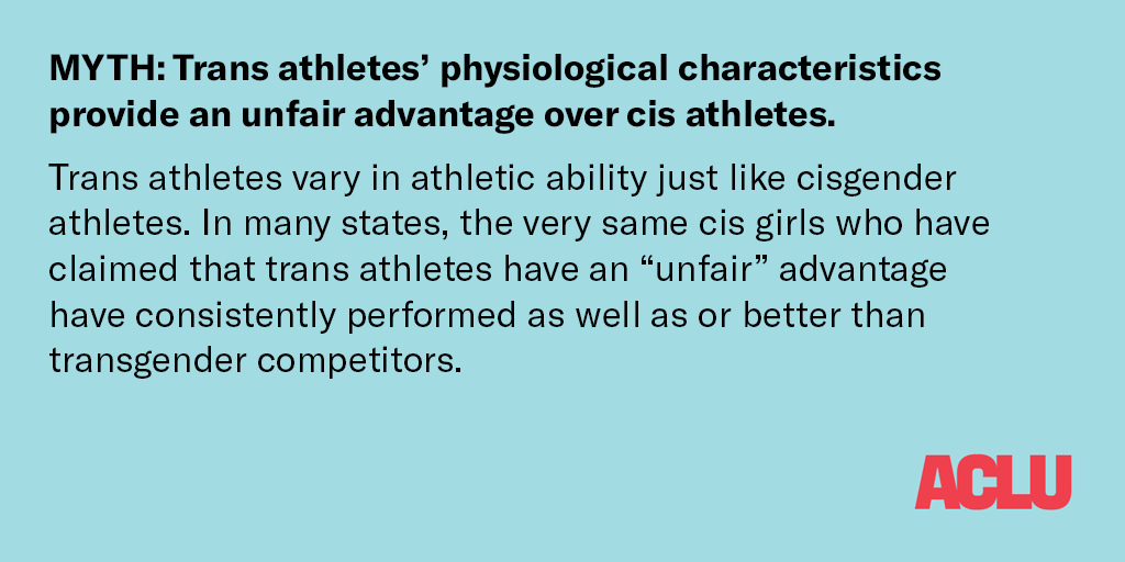 FACT TWO: Trans athletes do not have an unfair advantage in sports.