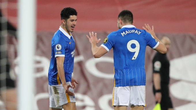 Alzate celebrates his goal vs Liverpool
