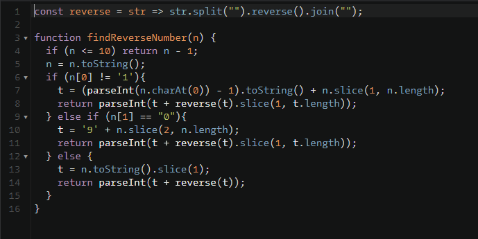 """Desafio """"Find the nth Reverse Number (Extreme)""""    #100DaysOfCode #Day68"""