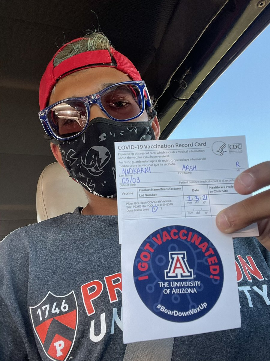 One down, one to go! Thank you @uarizona ! 🐻⬇️💉⬆️  #thegoodtimes #beardownvaxup
