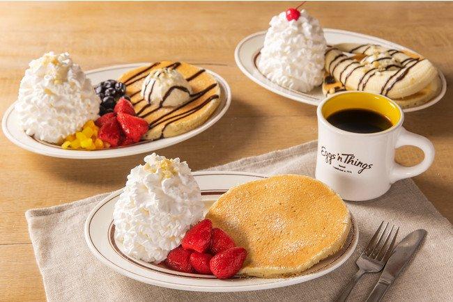 Eggs 'n Thingsでは、パンケーキとドリンクをセットにした初めてのお一人用セット『Pancake for One ~お一人さまパンケーキ~』を 2/5~3/19 の期間限定で販売!Eggs 'n Things で美味しいひとり時間を過ごしましょう♪