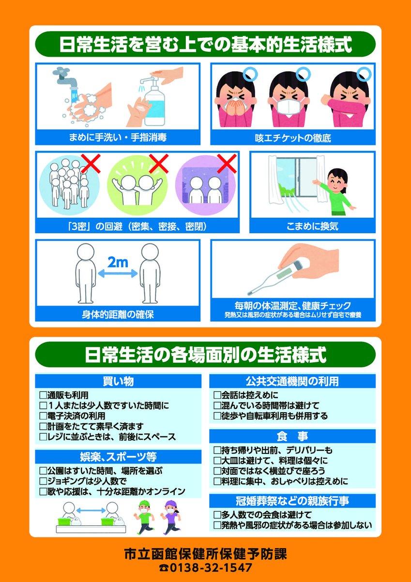 今日 函館 者 コロナ 感染