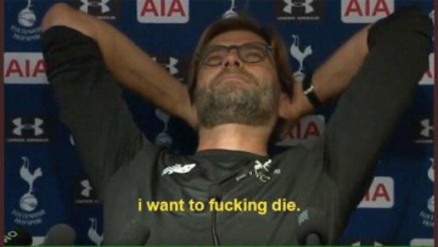 Liverpool lost two in a row at Anfield.  #LIVBUR #LIVBHA  Klopp:...... Fans: #YNWA
