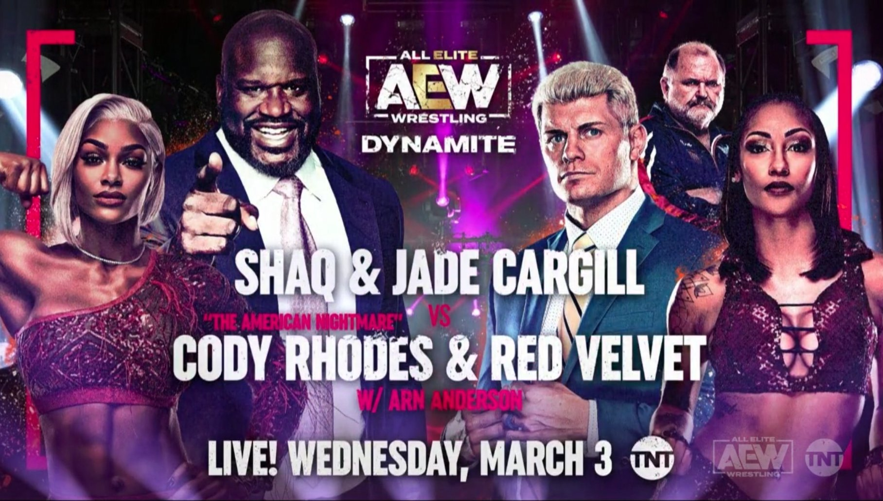 Shaq And Cody Rhodes AEW Tag Match Officially Announced