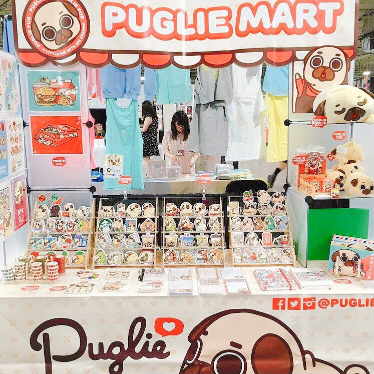 Puglie Mart as an artist alley table at Anime North 2019