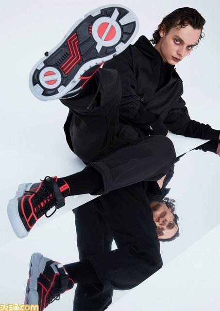 """平成の『#仮面ライダー』ファッションブランド""""HENSHIN by KAMEN RIDER""""誕生。スニーカーやTシャツなどが2月10日より発売期間限定のポップアップショップも開催される。"""