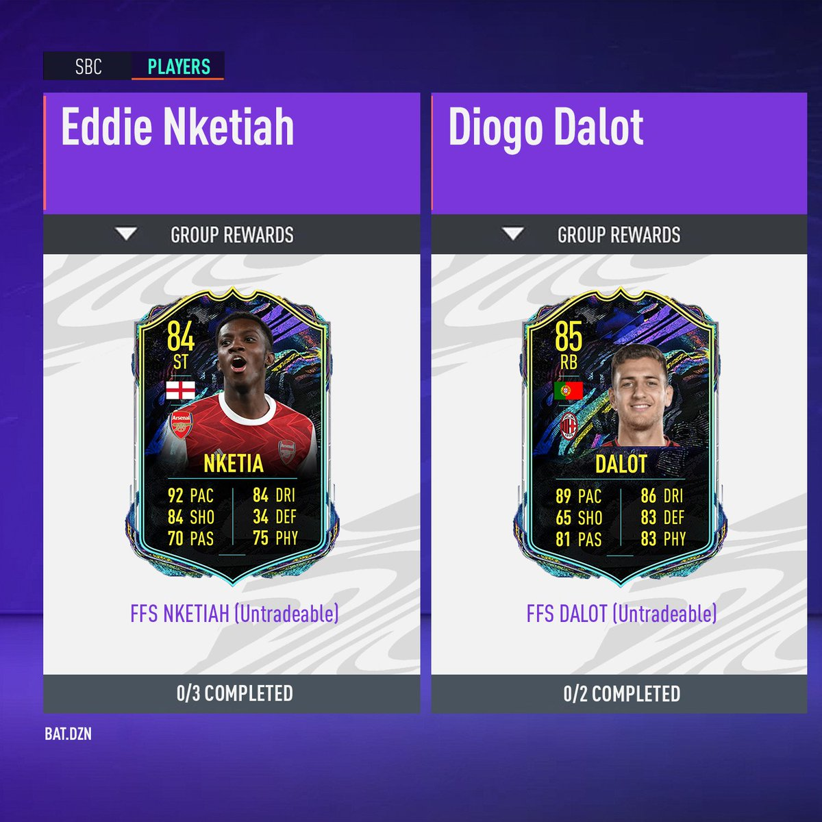 #FutureStarsCould we see these two players get #SBC's during the #FutureStars 🌟promo? ▪️ Eddie #Nketiah 🏴󠁧󠁢󠁥󠁮󠁧󠁿 Diogo #Dalot 🇵🇹 ▪️ Who else deserves a Future Stars card? Let me know in the comments below 👇