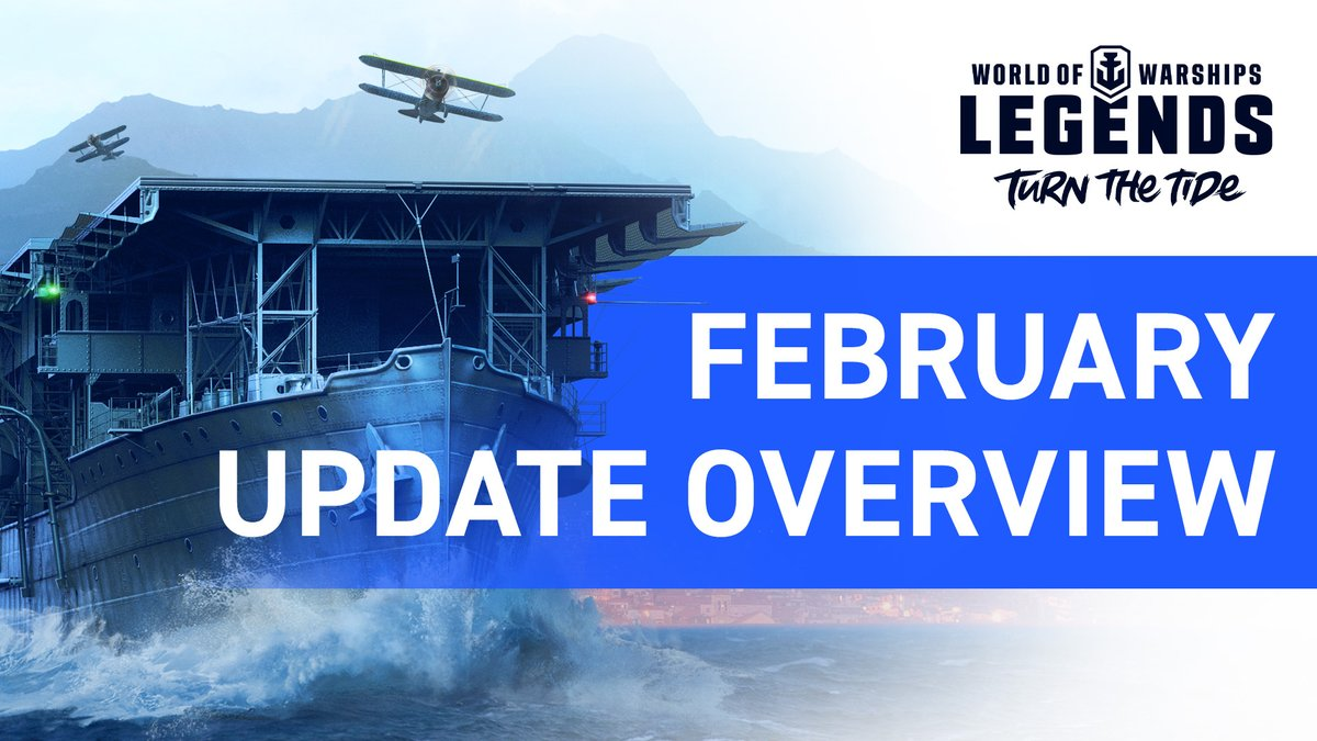 Aircraft Carriers Appear for the first time in World of Warships: Legends! Test them out, earn the cruiser Siegfried in the Dragonslayer Campaign, and command new British heavy cruisers in the February Update! Get it now: https://t.co/68mxkeVSkO https://t.co/He1QKLrf13