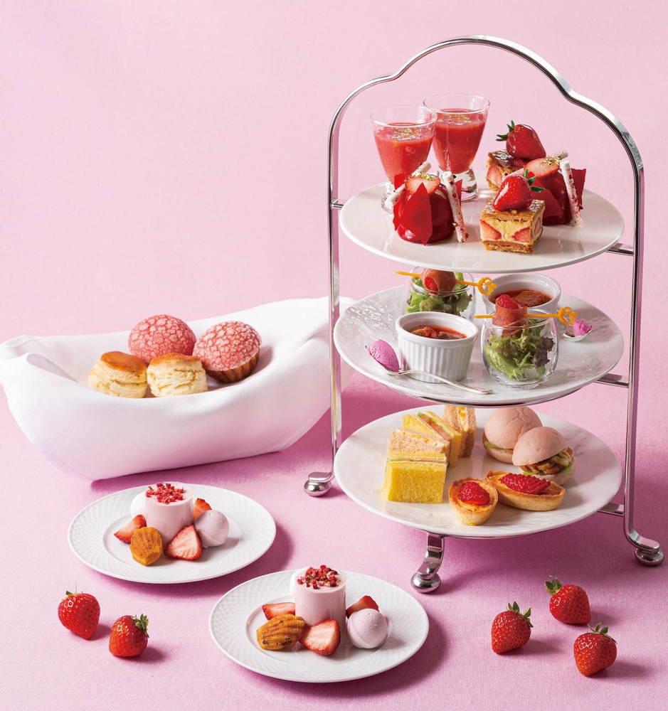"""帝国ホテル 東京で""""魅惑の苺デザート""""フェア、とちおとめ&紅ほっぺの贅沢アフタヌーンティーなど -"""