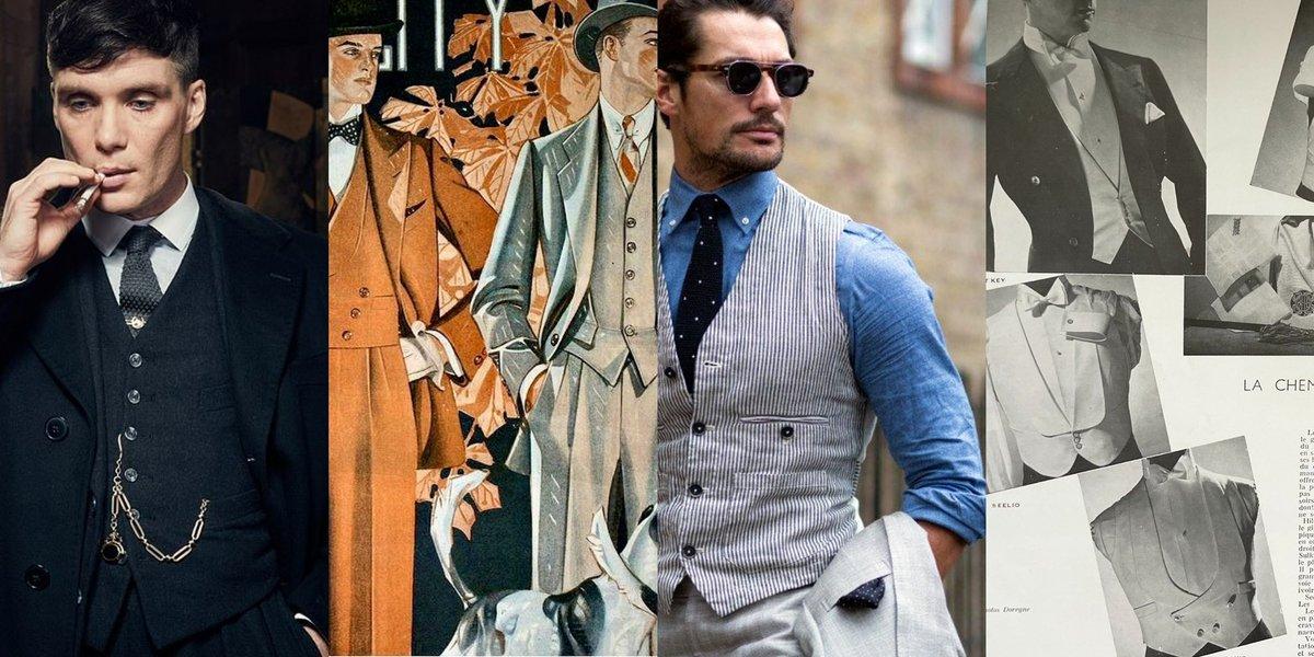 """私は""""ウェストコートは男の見せブラ""""教の信者なのですがベルトを覆う丈が正しい長さとされるそうです。かつてはズボンのウェストバンド(ベルト部分)とシャツの裾を隠し、見目を美しく保つ機能を担っていたからです。ジャケットからチラリと覗く腰元の僅かな差に秘められた紳士のこだわり"""