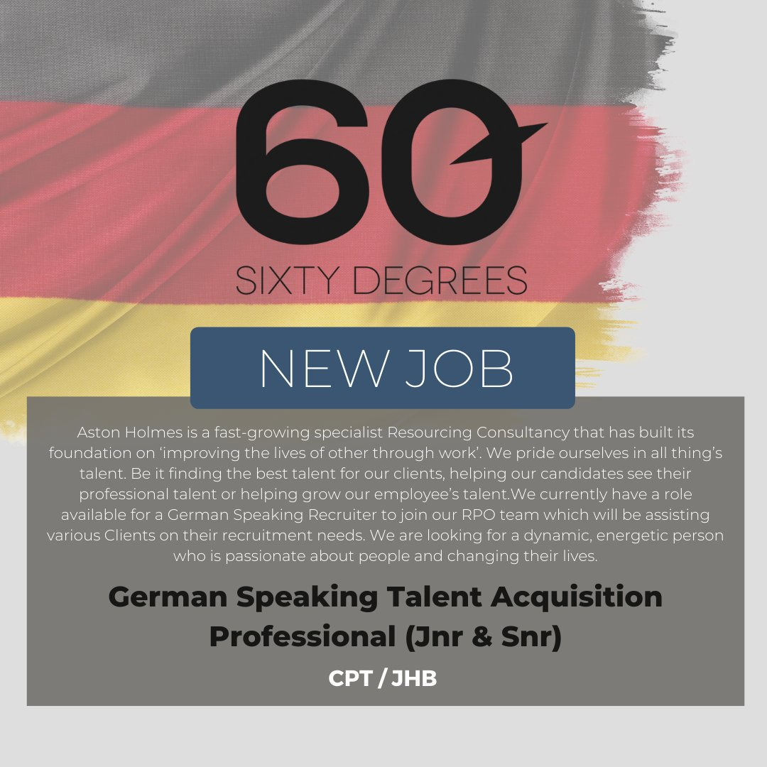 test Twitter Media - New #JobAlert - German Speaking Talent Acquisition Professional in Cape Town or Johannesburg  https://t.co/xxzuEHEttS  https://t.co/yiYzxrPRrR  #nowhiring #talentaquisition #germanspeaking #astonholmes https://t.co/2OHg47TlfB