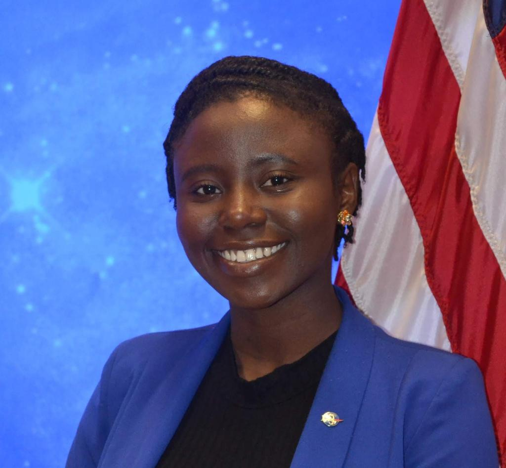 """Meet Precious Fadimiroye, 4x software dev. @NASA_Johnson intern ➡️ @NASAGoddard's newest IT Pathways intern. Her advice to students: """"Trust in your abilities. Use the paths formed for you, to create new roads for future generations. You CAN achieve excellence!"""" #BlackHistoryMonth"""