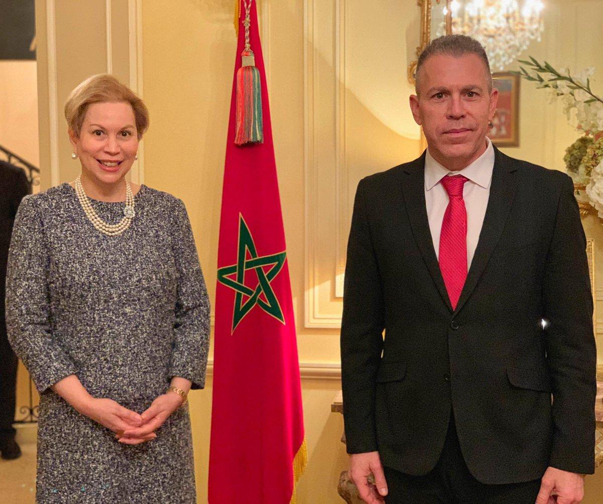 إسرائيل تغرد : سفير إسرائيل في الولايات المتحدة جلعاد أردن التقى سفيرة المغرب في الولايات المتحدة الأميرة لالة جمال…