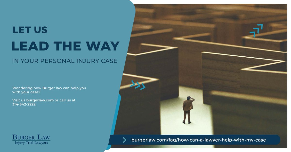 Navigating a personal injury case on your own is daunting. Burger Law can help. Find out how by visiting  or calling us at 314-542-2222 today.  #askalawyer #legalhelp #needalawyer #PIlaw #stlouis #stl